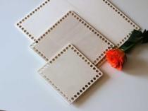 20cmx20 cm Wooden Base for Crochet Baskets