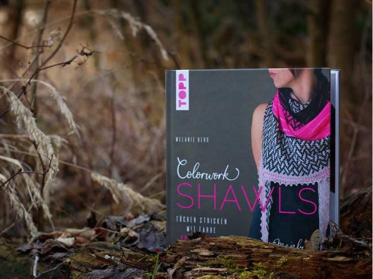 Melanie Berg: Colorwork Shawls - kniha návodov na vypletané šatky