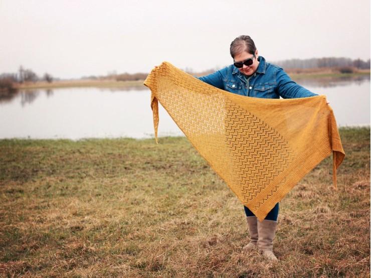Návod na pletenú šatku Kyler od Isabell Kraemer