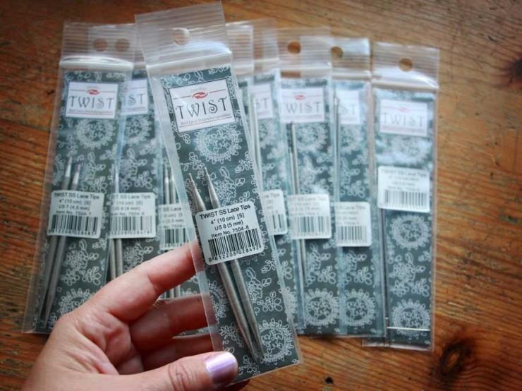 2 mm/10 cm (M) špičky ChiaoGoo Twist Lace