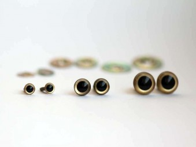 9 mm bezpečnostné oči