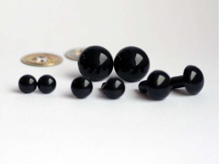 Bezpečnostné oči na hračky - 12mm čierne