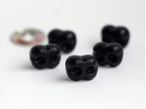 15 mm čierny bezpečnostný nos živý