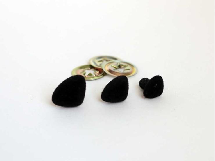 Bezpečnostný nos na hračky sametový čierny
