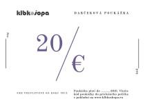 20€ darčeková poukážka