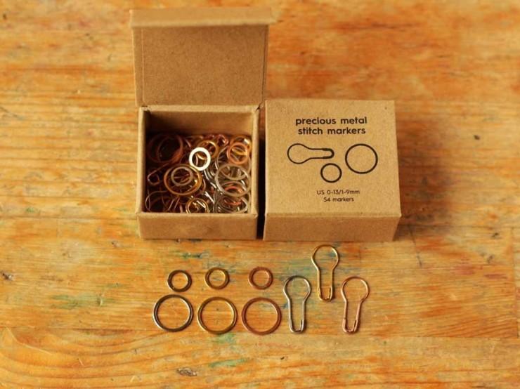 Coco Knits - sada kovových zatváracích a kruhových označovačov na pletenie