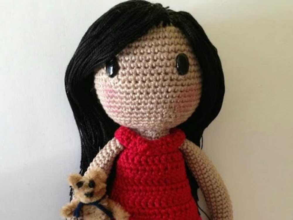 Amigurumi bábika v štýle Gorjuss