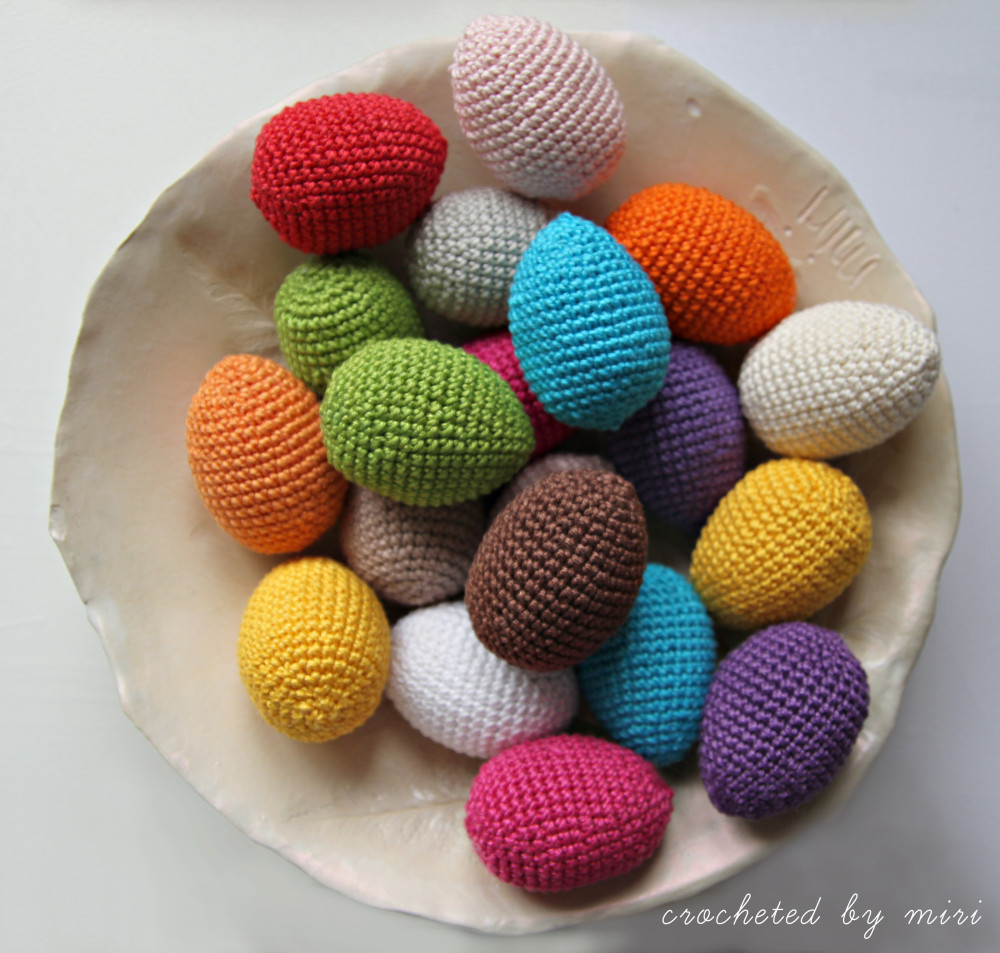 Postup na háčkované vajíčko