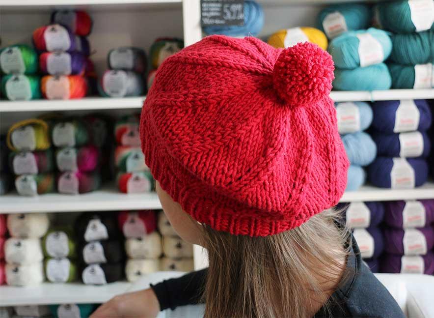 55f57fb35 Návod na pletenú baretku - Klbkošopa - blog