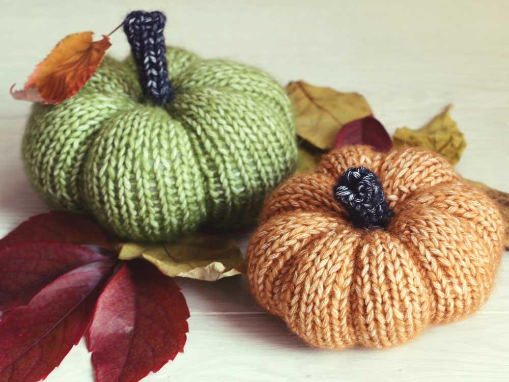 Návod: pletené tekvičky formované šitím