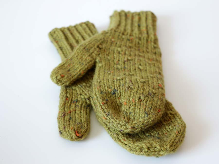 Pletené dámske rukavice - palčiaky