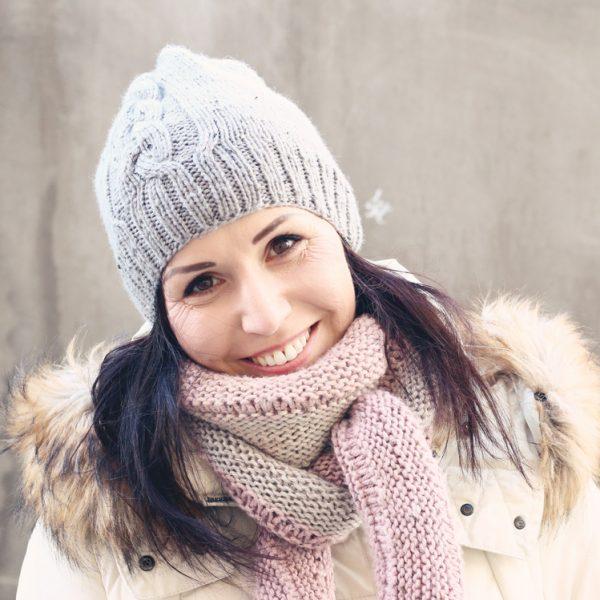 Pletená zimná čiapka