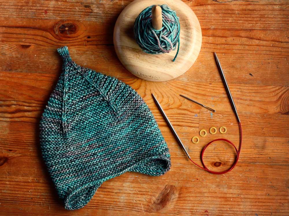 Pletená ušanka z Malabrigo Rios