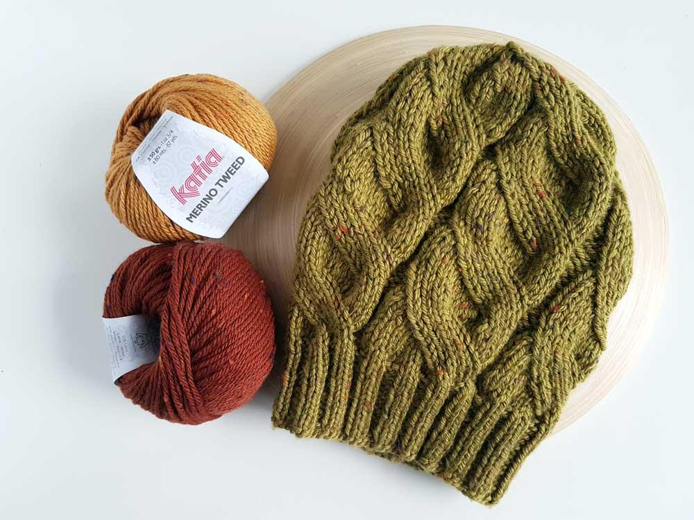 Pletená čiapka s falošnou osmičkou :: Návod