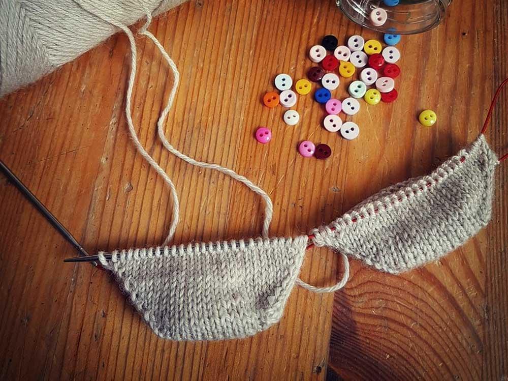 Ponožky pletené od špičky