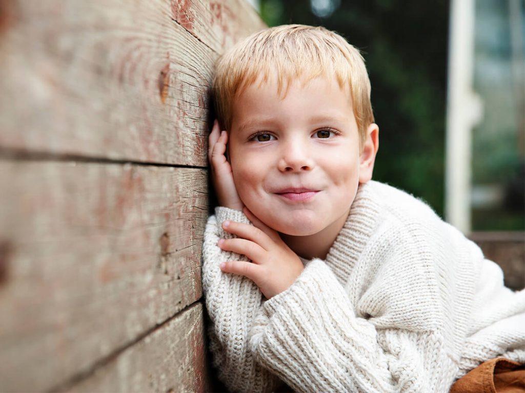 Detský pletený svetrík Strandkant