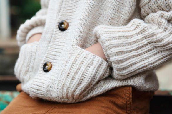 Pletený svetrík pre deti Strandkant
