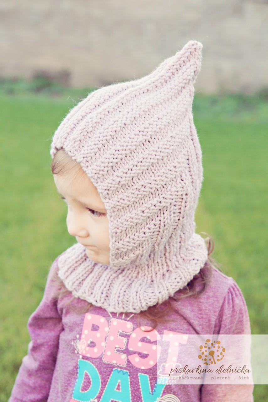 Návod na pletenú kuklu pre deti